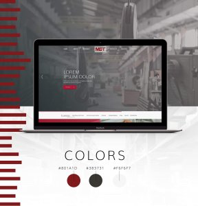 Industrial Manufacturing Website Design by Misterek Web Design Top Section of Material Difference Technologies